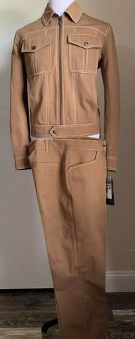 New $2540 Bottega Veneta Mens Suit Camel 42 US ( 52 Eur ) Italy