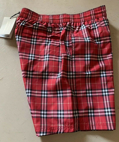 NWT Burberry Mens Beach Swim Short Parade Red Size L