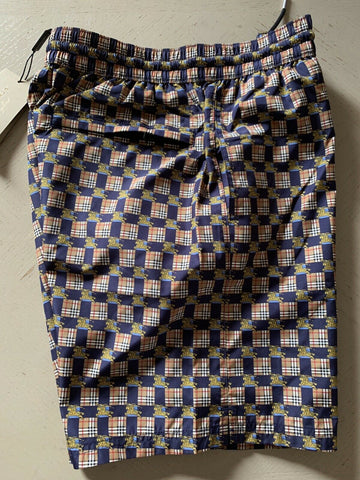 NWT Burberry Mens Beach Swim Short Navy Io Pattern Size S