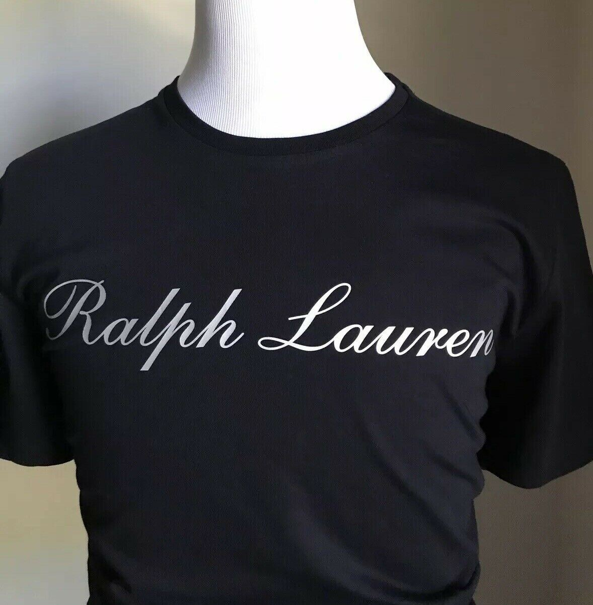 NWT $295 Ralph Lauren Purple Label Men T Shirt Black XL Italy