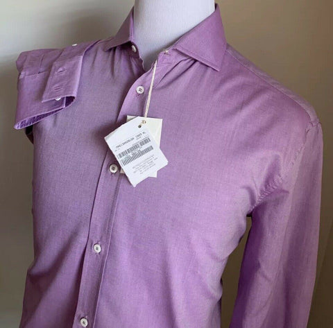 NWT $445 Brunello Cucinelli Mens Dress Shirt Basic Fit Purple XL Italy