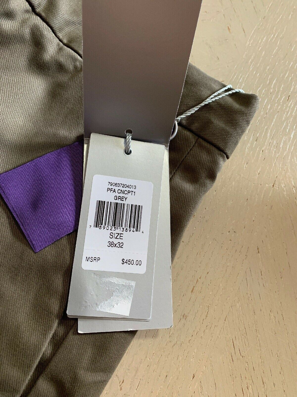 NWT $450 Ralph Lauren Purple Label Men  Slim Fit Pants Gray 38/32L US ( 54 Eu )