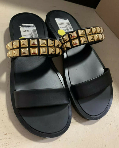 New $485 Giuseppe Zanotti Mens Leather Sandal Shoes Black 7 US ( 40 Eu ) Italy