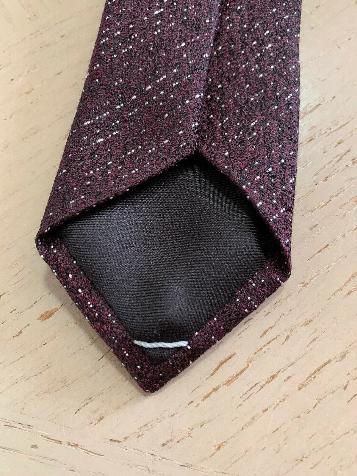 New $200 Dior Skinny Neck Tie Burgundy Hand made in Italy