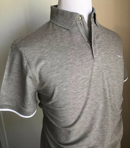 NWT $395 Ralph Lauren Purple Label RLX Men Polo Shirt Gray L Italy