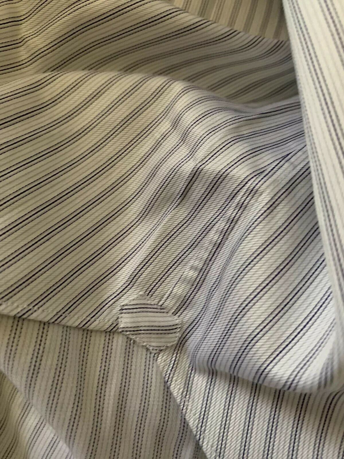 NWT $525 Brioni Mens Dress Shirt Gray Size 43/17 Italy