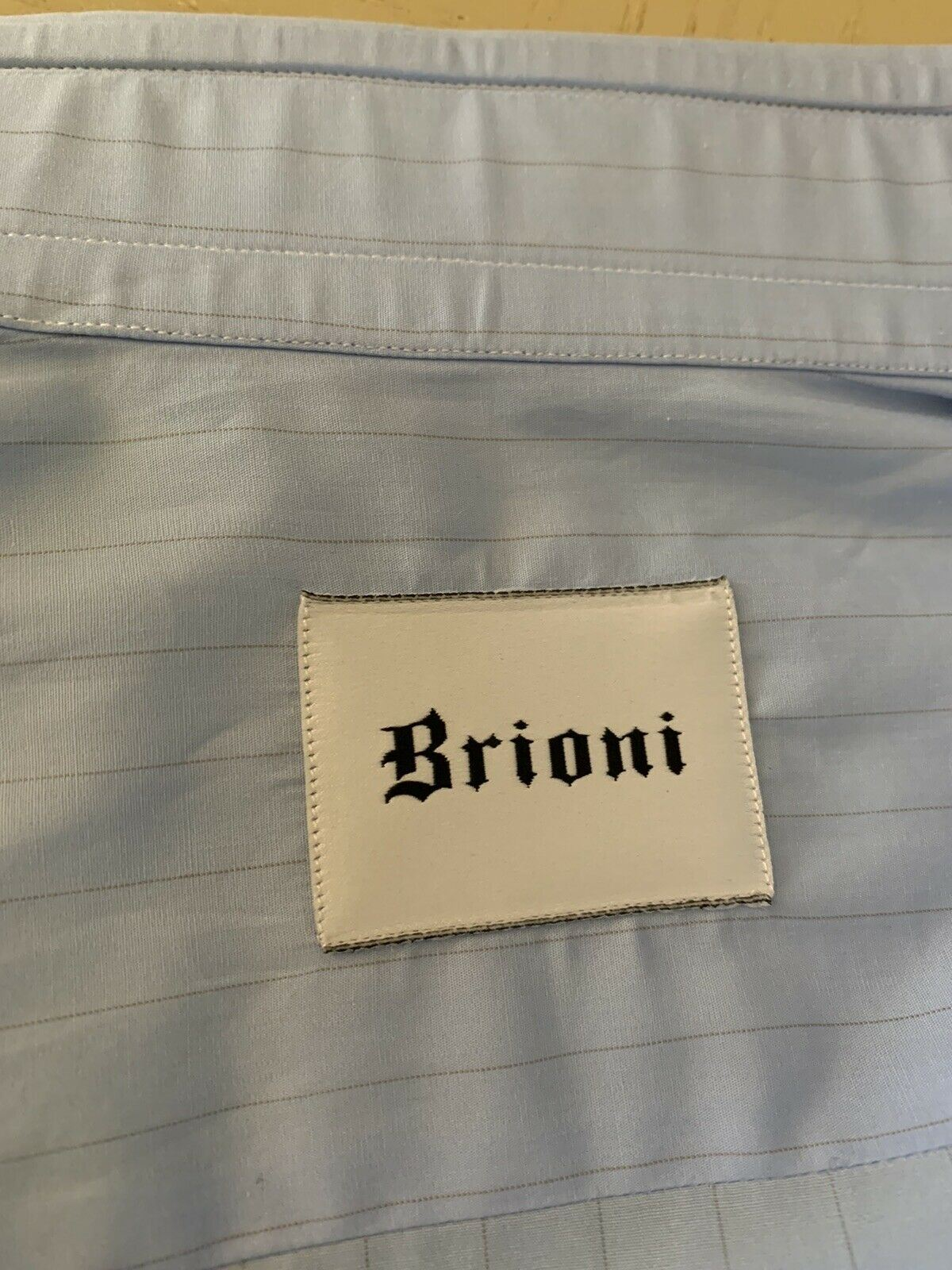 NWT $570 Brioni Mens Dress Shirt Blue Size 39/15.5 Italy