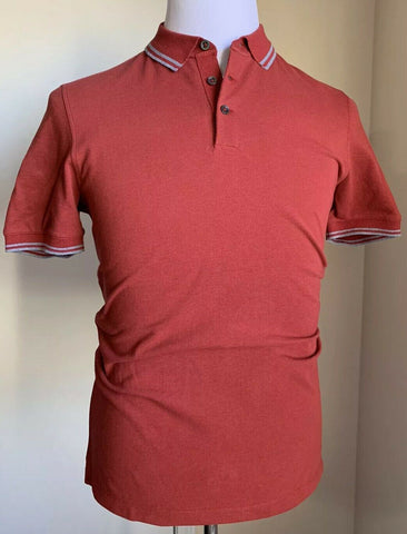 NWT Brunello Cucinelli Mens Polo Shirt Slim Fit Burgundy M US Made in Italy