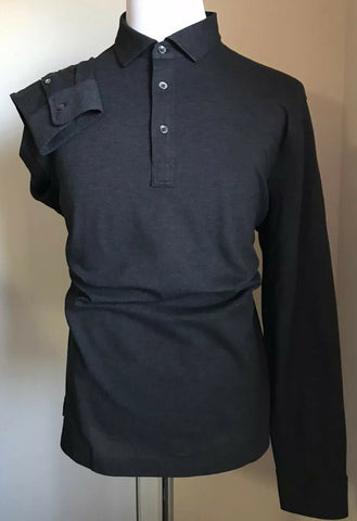 NWT $125 Polo Ralph Lauren Men Long Sleeve Polo Shirt DK Gray XL