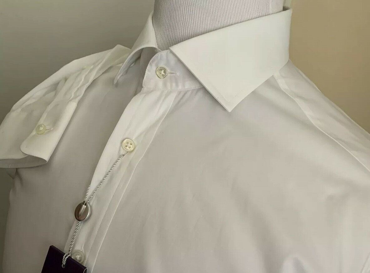 NWT $395 Ralph Lauren Purple Label RLX Mens Dress Shirt White Size 17 Italy