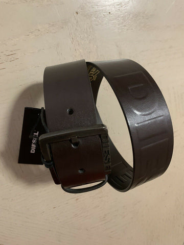 New Diesel Mens Leather Belt DK Brown 32/80 Italy