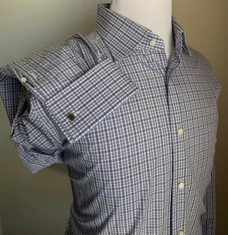 NWT $475 Ermenegildo Zegna Dress Shirt Blue Size 44/17.5