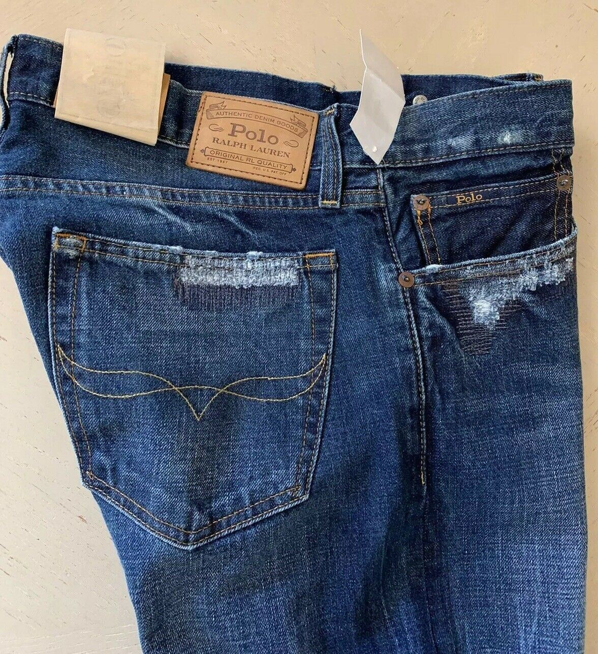 NWT Polo Ralph Lauren Mens Jeans Pants Blue  Size 32/32L US