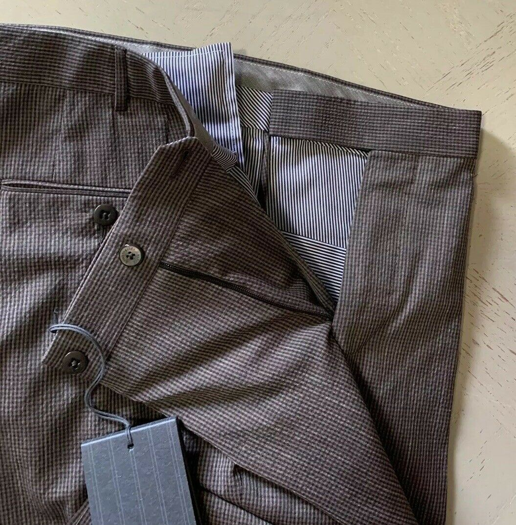 NWT $695 Ermenegildo Zegna Trofeo Pants Brown 36 US ( 52 Eu ) Switzerland