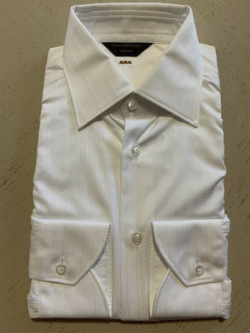 NWT $595 Ermenegildo  Zegna Couture Dress Shirt White 39/15.5 Made in Italy