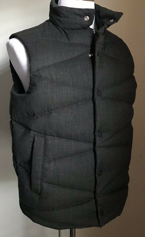 New $695 Emporio Armani Mens Vest Gilet Jacket DK Gray M US ( 50 Eu )