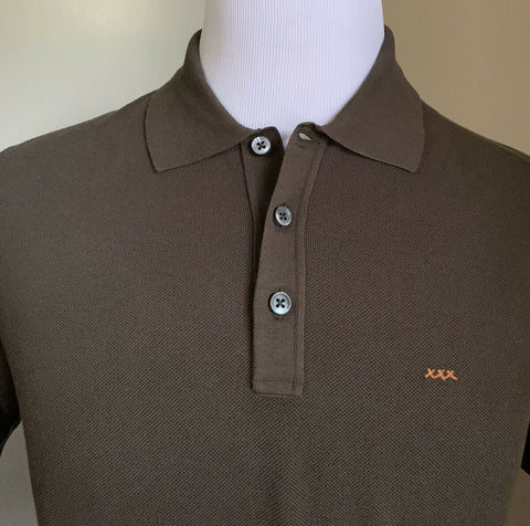 NWT $475 Ermenegildo Zegna Couture Men Polo Shirt Green S US ( 48 Eu ) Italy