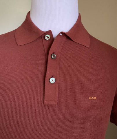 NWT $475 Ermenegildo Zegna Couture Men Polo Shirt Burgundy S US ( 48 Eu ) Italy