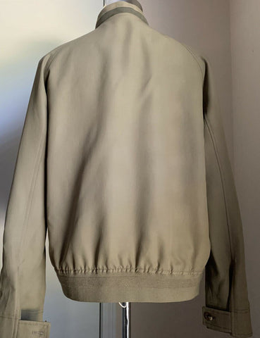 New $3105 Ermenegildo Zegna Couture Jacket Coat DK Beige 42 US ( 52 Eu ) Italy