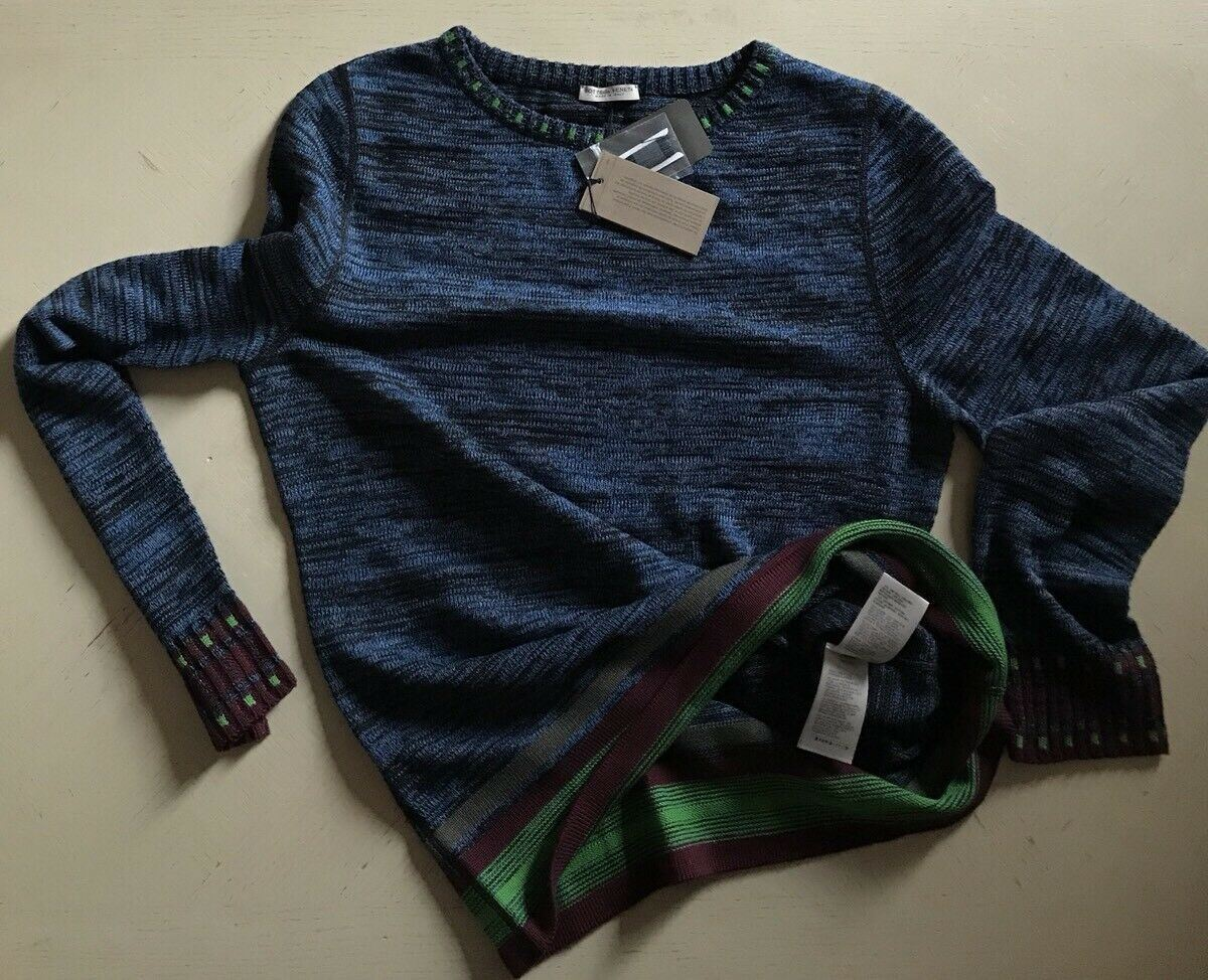 NWT $890 Bottega Veneta Mens Crewneck Sweater Blue/Navy 40 US ( 50 Eu ) Italy
