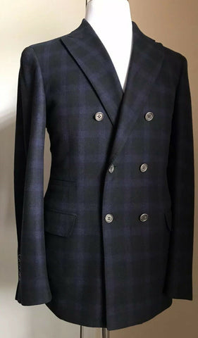 New $4325 Brunello Cucinelli Men Sport Coat Blazer Blue/Green 40R US ( 50R Eu )