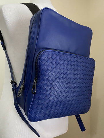 New $2750 Bottega Veneta Unisex Backpack Bag Blue Italy