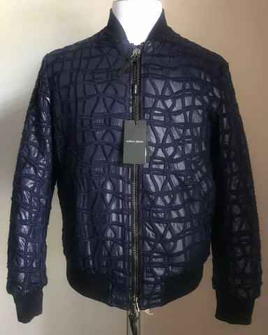 New $3395 Giorgio Armani Men Jacket Coat Navy/Blue 38 US ( 48 Eu ) Italy