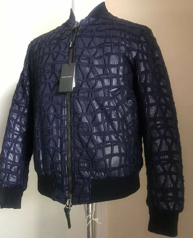New $3395 Giorgio Armani Men Jacket Coat Navy/Blue 36 US ( 46 Eu ) Italy