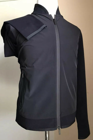 New $1195 Giorgio Armani Men Jacket Coat Black /Blue 38 US ( 48 Eu ) Italy
