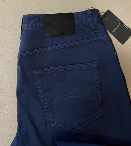NWT $695 Giorgio Armani Men Jeans Pants Royal Blue 34 US ( 50 Eu ) Italy