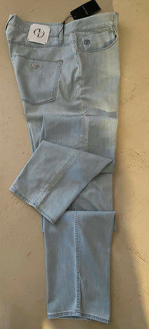 NWT $625 Giorgio Armani Men Jeans Pants Bleach Denim/Blue 34 US ( 50 Eu ) Italy