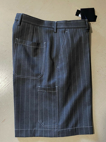 NWT $850 Versace Mens Short Pants DK Gray Size M US ( 48 Eu ) Italy