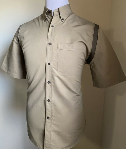 New $630 Salvatore Ferragamo Men's Short Sleeve Shirt Olive M Italy
