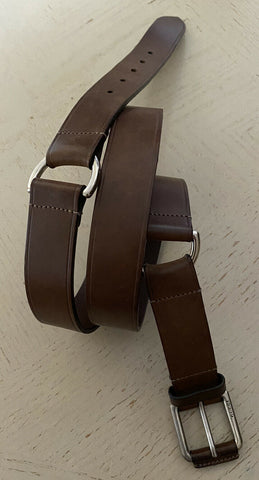 Gucci Mens Genuine Leather Belt DK Brown 42/105 Italy