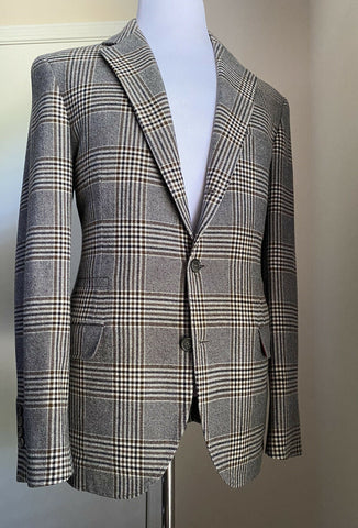 NWT $4295 Brunello Cucinelli Mens Sport Coat Blazers Brown/Gray 42R US/52R Eu