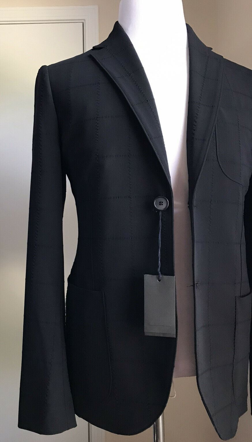 New $4190 Giorgio Armani Mean Suit Blue/ Navy 38R US ( 48 Eu ) Italy