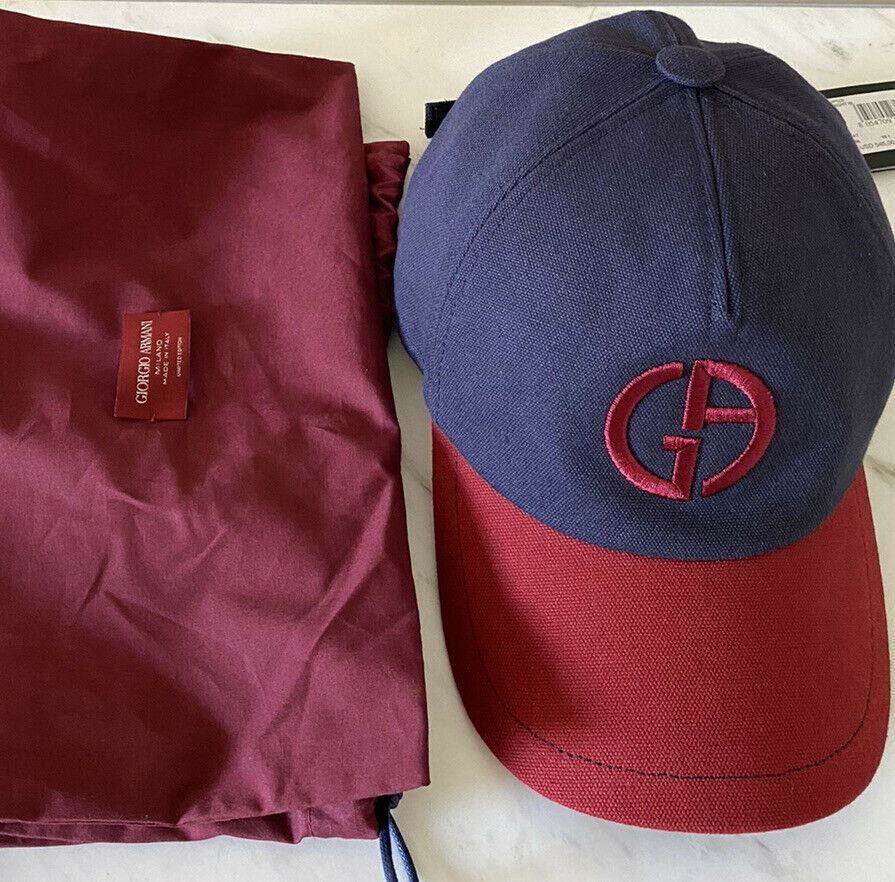 NWT $545 Giorgio Armani Limited Edition Truker Hat Blue/Red Size 58 ( S ) Italy