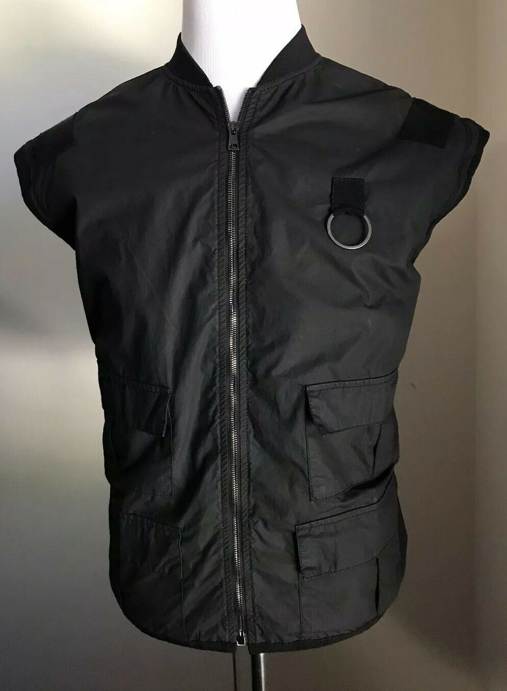 New $2800 Gucci Mens Coat Jilet Vest Jacket Black 40 US ( 50 Eu ) Italy