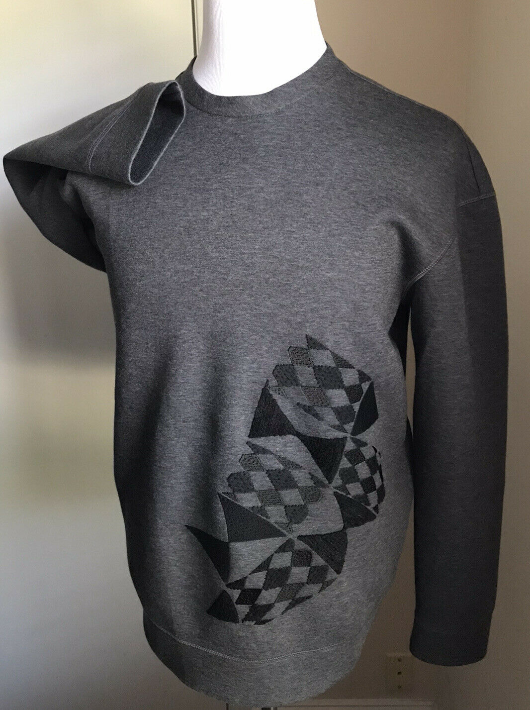 New $1195 Giorgio Armani Mens Crewneck Sweater Gray M US ( 50 Eu ) Italy