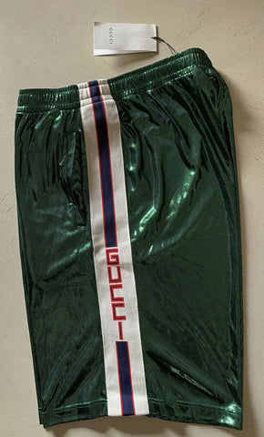 NWT $980 Gucci Mens Laminated Short  Pants Green Size XXL Italy