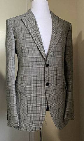 New $3125 Versace Mens Suit Gray 44R US ( 54R Eu ) Italy