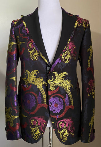 NWT $3250 Versace Men Dinner Jacket Blazer Multicolor 40R US/50R Eu Italy