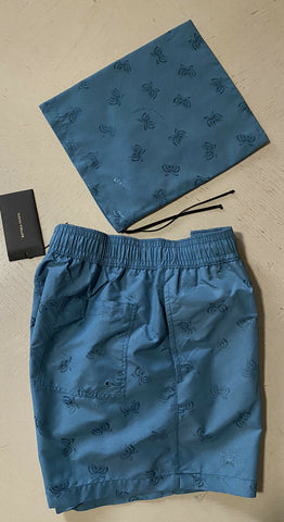 NWT $550 Bottega Veneta Mens Swim Short Pants Sky Blue Size M Italy
