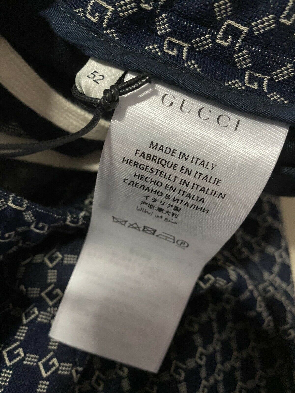 NWT $2400 Gucci Men's Pants GG Logo Pents Blue 36 US ( 52 Euro ) Italy