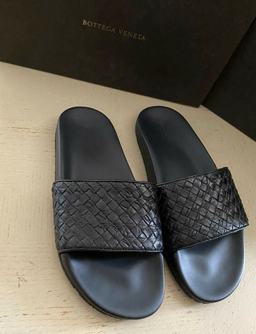 NIB $1200 Bottega Veneta Men Crocodile Sandal Shoes Black 9 US ( 42 Eu ) Italy
