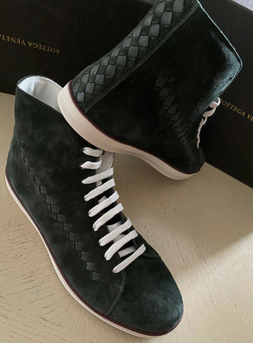 NIB $890 Bottega Veneta Men Suede High Top Sneakers Shoes Green 11 US/44 Eu