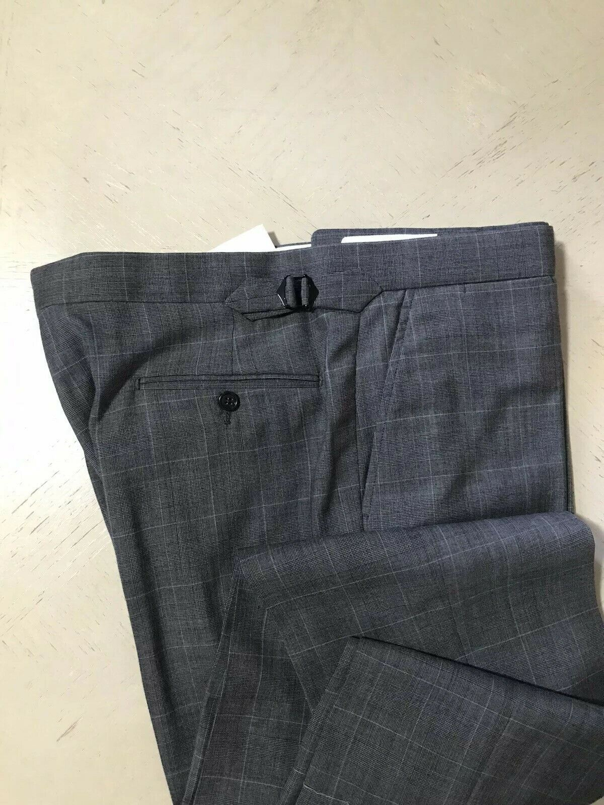 New $3995 Ralph Lauren Purple Label Mens Suit Gray 46R US ( 56R Eu ) Italy