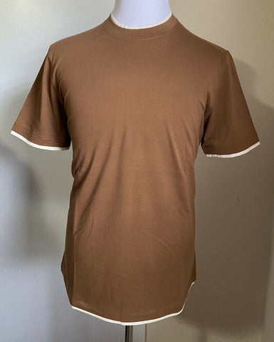 NWT $345 Brunello Cucinelli Mens T Shirt Slim Fit Brown Size XL Italy