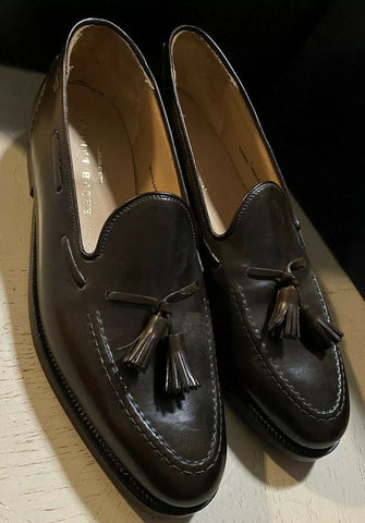 New $1350 Ralph Lauren Crockett&Jones Men Loafers Shoes DK Brown 11.5 US Eng