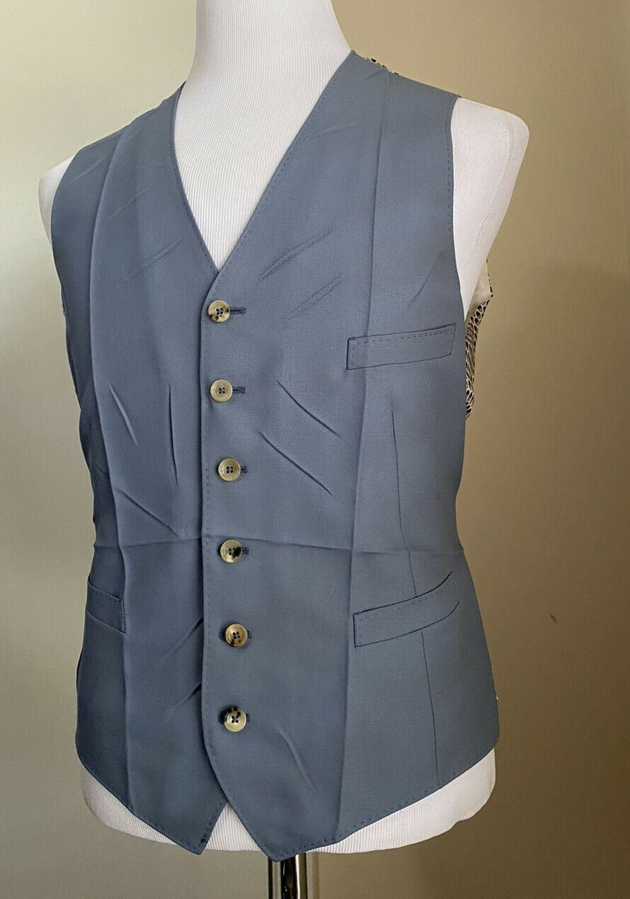 New $1520 Gucci Men Wool/Viscose Vest Gilet Blue 40 US ( 50 Eu ) Italy